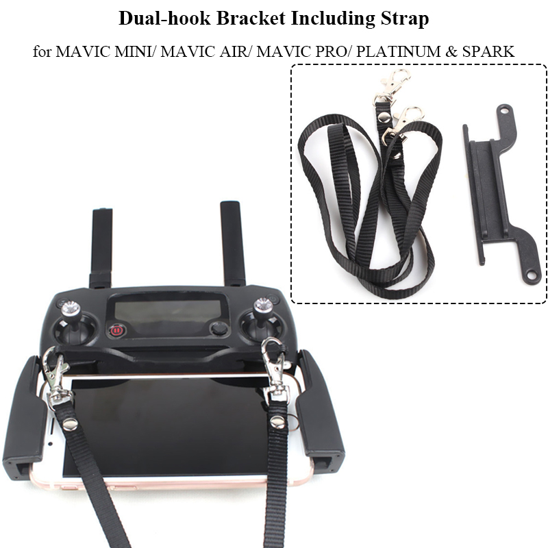 Neck Strap Lanyard Belt + Dual-hook Buckle Bracket Mount For DJI MAVIC Mini AIR Strap Holder Controller Accessories