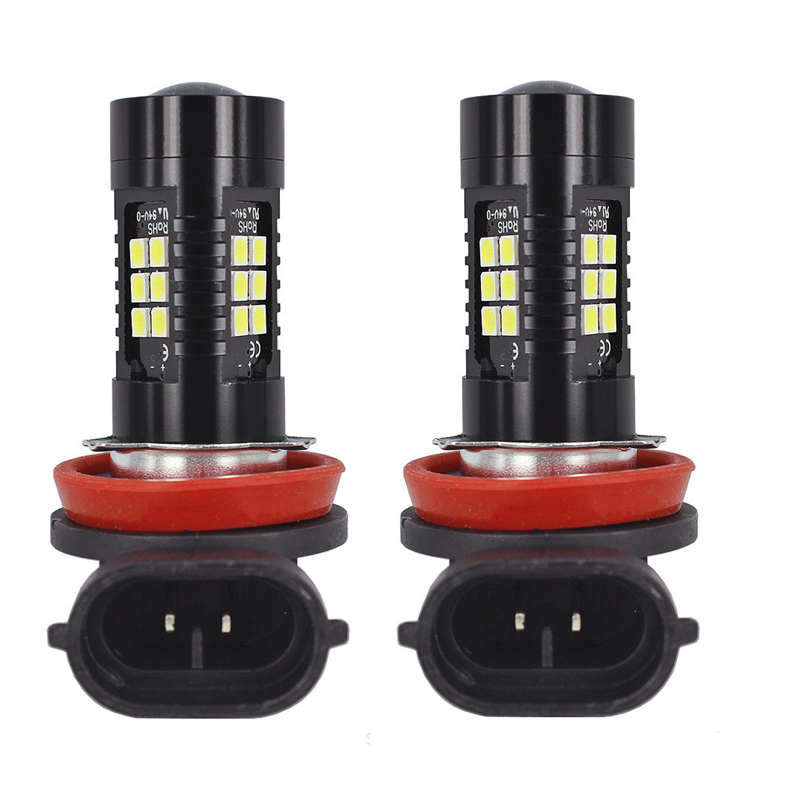 2PCS LED Car Bulbs H8 H11 9005 9006 21 SMD 3030 Super Bright Auto Led Bulb Lamp 6000K Fog Light Cars Driving Lamp DRL