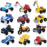 14 arten Mini Transport Block Auto Gebäude Kompatibel legoe INGlys Spielzeug Geschenke