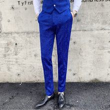 Fashion 2020 Autumn Dress Trousers Mens Slim Fit Business Formal Wear Wedding British Style Suit Pants Men 4 Colors(China)