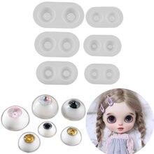 6 размеров bjd кукла круглый глаз силиконовые формы с украшением
