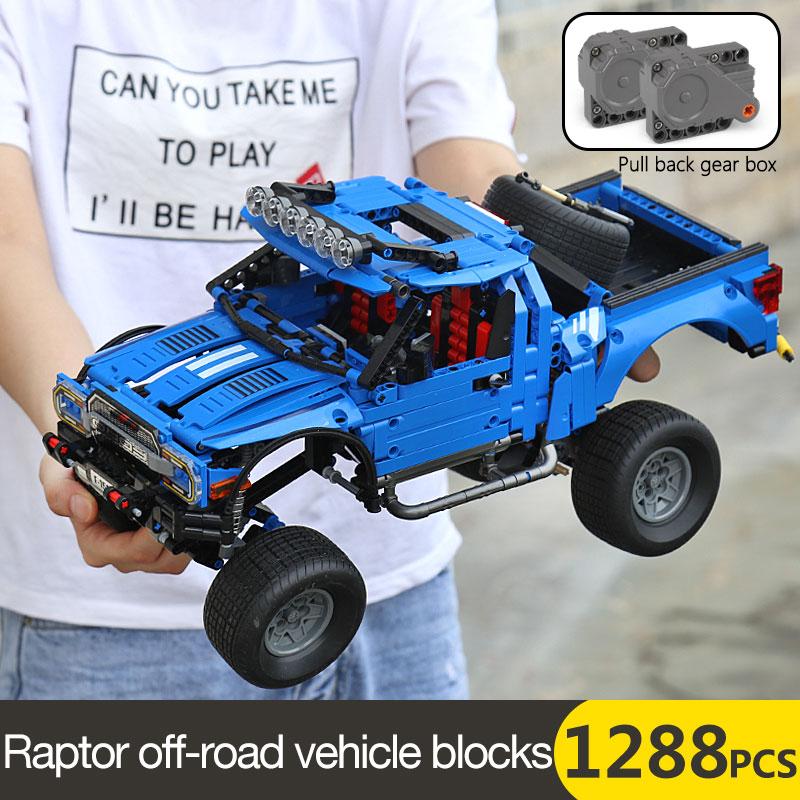 701970 Technic Series The F 150 Raptor Pickup Model Building Blocks Set Classic Expert Vehicle Toys