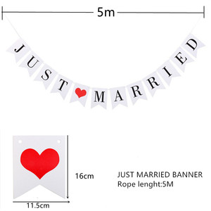 Image 3 - Just Married Banner Mr Mrs Rustic Garland Wedding Table Decoration Groom Bride To Be Balloon Banner Bachelorette Party Supplies