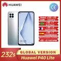 В наличии Huawei P40 Lite глобальная версия 6 ГБ 128 большой осыпи 48MP AI камеры смартфона Kirin 810 40W быстрое зарядное устройство Смартфоны