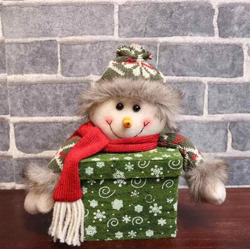 Baru Natal Apple Hadiah Case Kotak Paket Kepingan Salju Dekoratif Apple Hadiah Wadah Boneka Ornamen Tangki Penyimpanan Kotak Permen