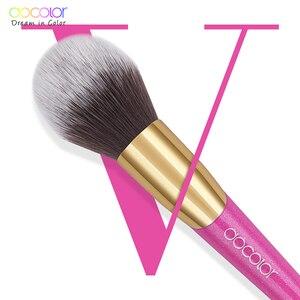 Image 5 - Docolor pincéis de maquiagem conjunto 14 pçs profissional compõem escovas novas escovas para rosto maquiagem fundação pincéis de sombra em pó