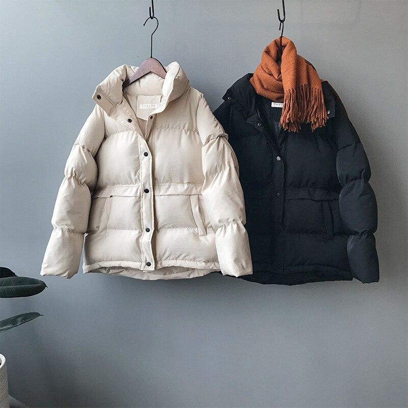 Mooirue 2019 hiver automne coréen manteau veste Femme Ins vêtements rembourrés de coton chaud solide couleur à manches longues nouveau vêtement manteau