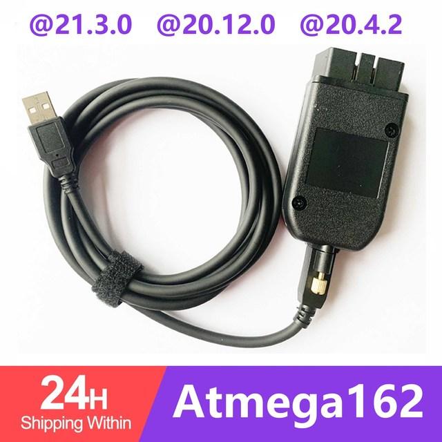 VAGCOM 20.12 VAG COM 21.3 HEX יכול ממשק USB עבור פולקסווגן אאודי Skoda VAG 19.6.2 ATMEGA162 + 16V8 + FT232RQ רב שפות