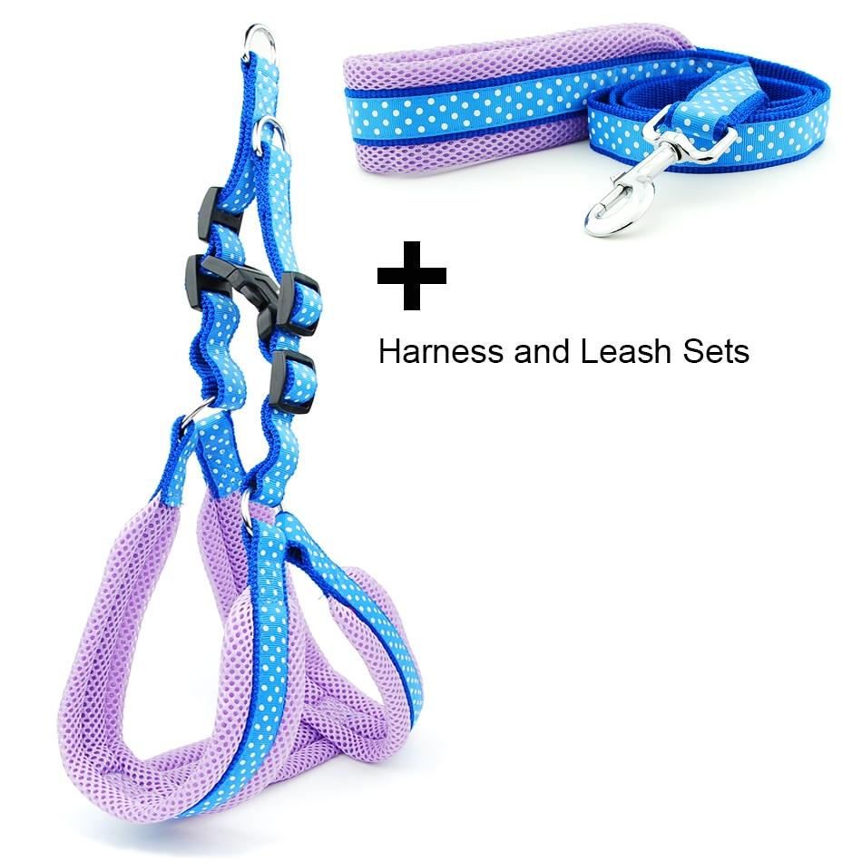 Dog Harness Vest Leash Polka Dot Breathable Mesh Pet Produts Adjustbale Outdoor Walking Leash Dog Collar for Medium Large Dogs
