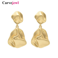 Carvejewl metal wind earrings simple unique abstract bell pendant drop dangle 2019 new fashion Hiphop wholesale jewelry