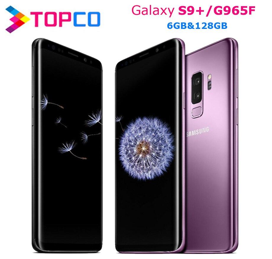 Мобильный телефон Samsung Galaxy S9 + S9 Plus G965F, оригинальный, 4G LTE, Android, Восьмиядерный, экран 6,2 дюйма, двойная камера 12 МП и 8 Мп, ОЗУ 6 Гб ПЗУ 128 ГБ, Exynos NFC