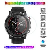 Protector de pantalla de vidrio templado para Xiaomi Huami AMAZFIT Stratos 3, reloj deportivo inteligente con GPS