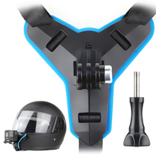 SOONSUN Motorcycle Helmet Front Chin Bracket Holder Fixed Strap Mount for GoPro Hero 9 8 7 6 5 4 3 for DJI Osmo Action Accessory