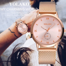 Geneva Foreign Trade Ladies Watch Net with Watch Fashion Roman Digital Ultra-thin Mesh Casual Quartz Watch Relogio Feminino