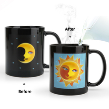 Кружка для кофе с эффектом обесцвечивания Солнца и Луны с высокой температурой, рождественский подарок