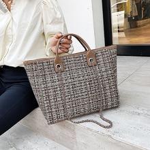 Lüks büyük kapasiteli çanta tasarım moda Tote yün eğlence alışveriş kadın seyahat el çantası omuz kadın çantası