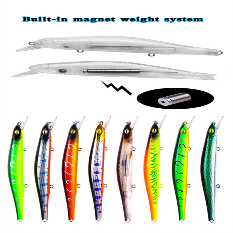 1 PCS 12.5cm/17.7g Magnet Weight System Long Casting New Model Fishing Lures Hard Bait Dive 0.8-1.2m Quality Wobblers Minnow