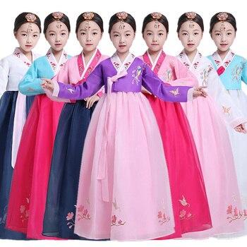 Children Korean Traditional Dress Hanbok Girl Korean Ancient Classic Costume For Stage Show Korean Palace Dance Dress SL1542