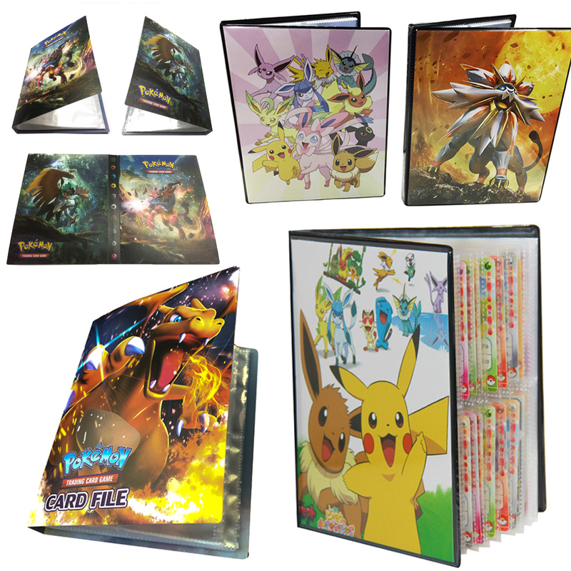 Takara Pokemon Card Album 160 240 324 Pikachu Table Board Game Toys PTCG Accessories Cards Collection Book For Children