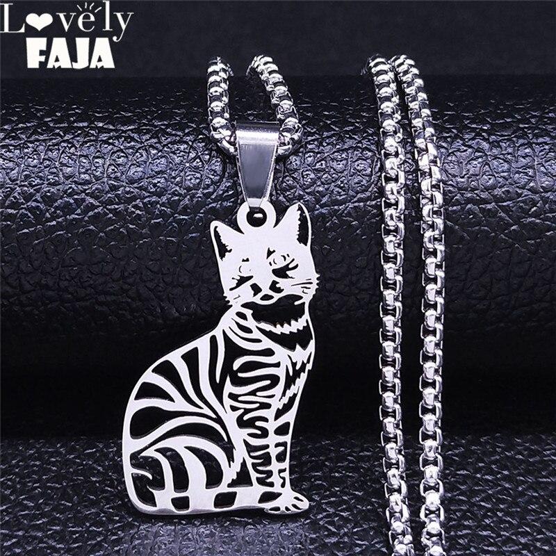 2021 Cut цепочка для кота ожерелья для женщин/мужские серебряные Цвет из нержавеющей стали кулон ожерелье ювелирные изделия воротник, одежда д...