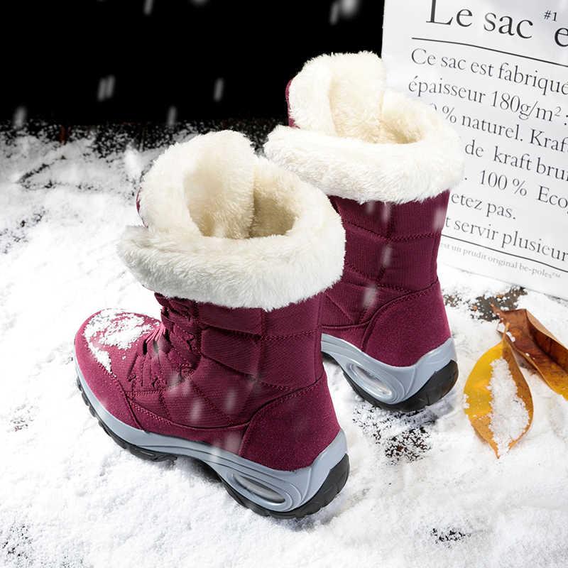 TUINANLEคุณภาพกันน้ำผู้หญิงฤดูหนาวรองเท้าอุ่นหิมะกลางรองเท้าผู้หญิงLace-Upสบายรองเท้าChaussures femme