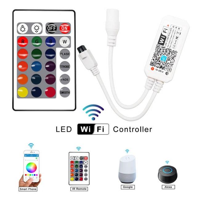 5M 10M 15M WIFI LED Strip RGB SMD 3528 5050 12V Flexible Home Decoration Tira RGB LED Light Strip Waterproof 2