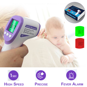 Infrared Thermometer Forehead Precise Instant Non-Contact Digital Measurement Fever Alarm Kids Adult Large Stock Protective D30