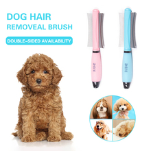 Pet Brush Double Sided Arc-shaped Stainless Steel Pets Hair Removal Comb For Dogs Cats