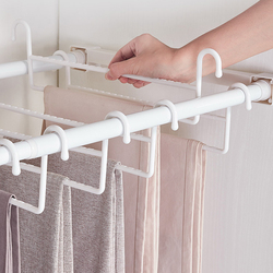 Trousers Rack ABS Telescopic Pants Rack Push-pull Damping Double-row Cabinet Pant Racks Thicken Hardware
