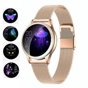 Image 1 - KW20 สมาร์ทนาฬิกาผู้หญิงIP68 กันน้ำHeart RateการตรวจสอบบลูทูธสำหรับAndroid IOSฟิตเนสสร้อยข้อมือSmartwatch