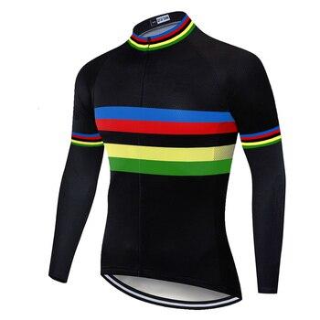 2020 rainbow jersey de ciclismo de Primavera Verano maillot ciclismo hombre bicicleta...