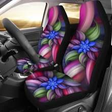 Модные аксессуары для интерьера автомобиля в цветочном 3d стиле