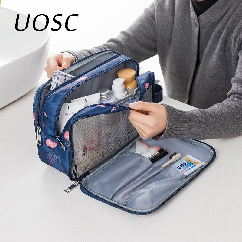 UOSC Multifunction Travel Cosmetic Bag Neceser Women Makeup Bags Toiletries Organizer Waterproof Female Storage Make Up Cases