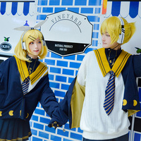 Vocaloid Kagamine Len School Style Cute Highly Quality Uniforms Cosplay Costume Free Shipping F