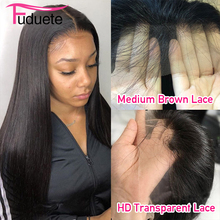 Peruca lisa de cabelo humano, para mulheres, 13x6, lace frontal, malásia 5x 5/4x4, fechamento, peruca remy