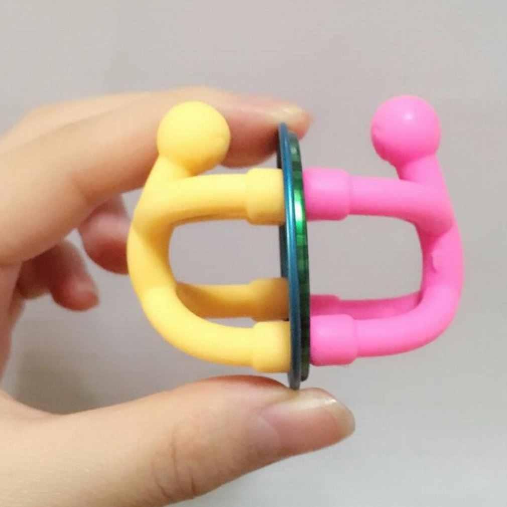8Pcs Bendable Q-man המגנטי צעצוע ילדי ילדי צעצוע חמוד גמיש גומי דמויות מדבקת להחזקת ניירות תמונות