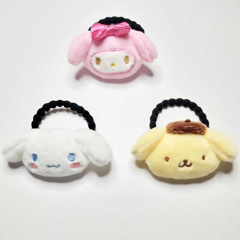 1PC New Japanese Anime Melody Pudding Cinnamoroll Dog Doll Plush Hair Rope Plush Toys Cartoon Plush Hairpin for Girl Kid Gifts