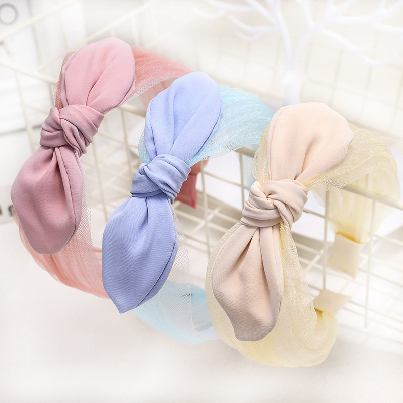 Vintage Bohemian Lace Knot Headband Bow Hairband For Women Girls Hair Accessories Hair Jewelry