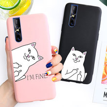 Carton Grappige Kat Soft Case Voor Vivo Iqoo V17 Neo V15 S1 Pro Y17 Y15 Y12 Z5X Y91 Y93 Y95 y91I Y91C Y83 Y81 V9 Y85 V11 V11I Cover(China)