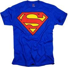 Camiseta adulto do logotipo do escudo clássico do superman