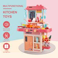 23/26/42 pces brinquedo da cozinha do miúdo simulação brinquedo da cozinha pulverizador água louça fingir jogar cozinha conjunto de mesa de cozinha presente das crianças