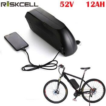 Tigershark-Batería de bicicleta eléctrica, 52V, 12ah, 52V, 1000W, bafang, batería de litio