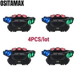 4 sztuk etapie oświetlenie DJ 9 oczy pająk wiązki reflektor z ruchomą głowicą 9x12w RGBW 4IN1 DMX512 kontroli Luces pająk ślub DJ Disco oświetlenie do klubu
