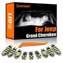 Zoomsee interior led para jeep grand cherokee zj wk wk2 1993-2020 canbus veículo lâmpada dome mapa luz de leitura acessórios do automóvel