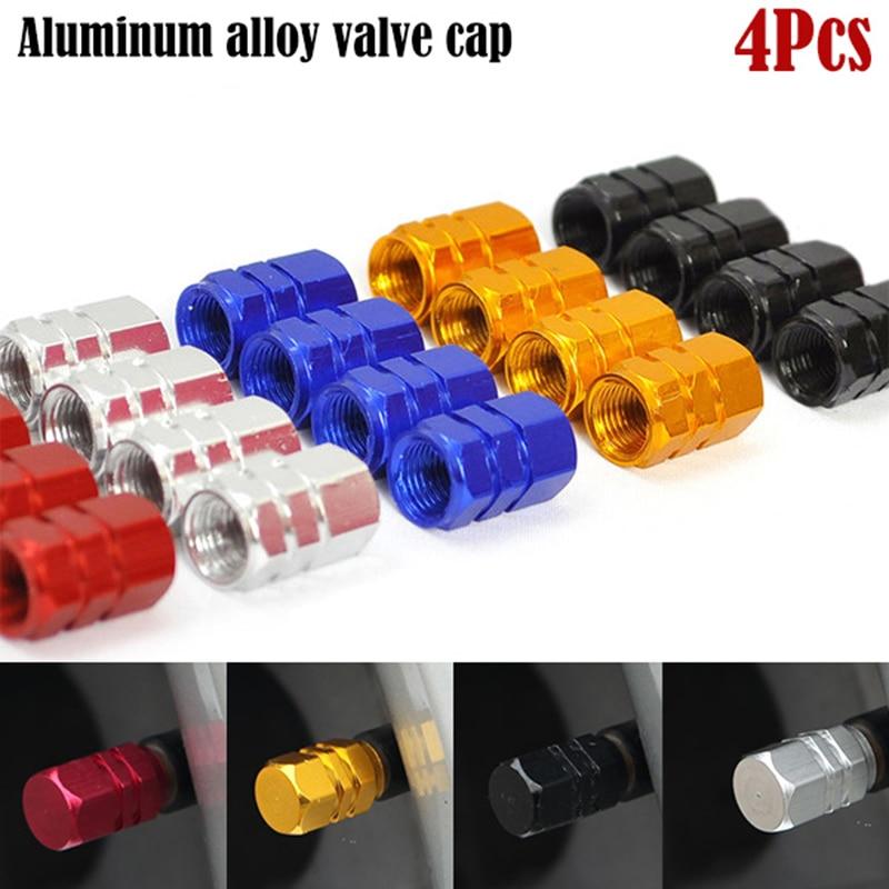 4PCS Air Caps  Cove Levert Car Tire Valve Stem caps Bolt-in Aluminum Theftproof Wheel Tires Valves Tyre Stem