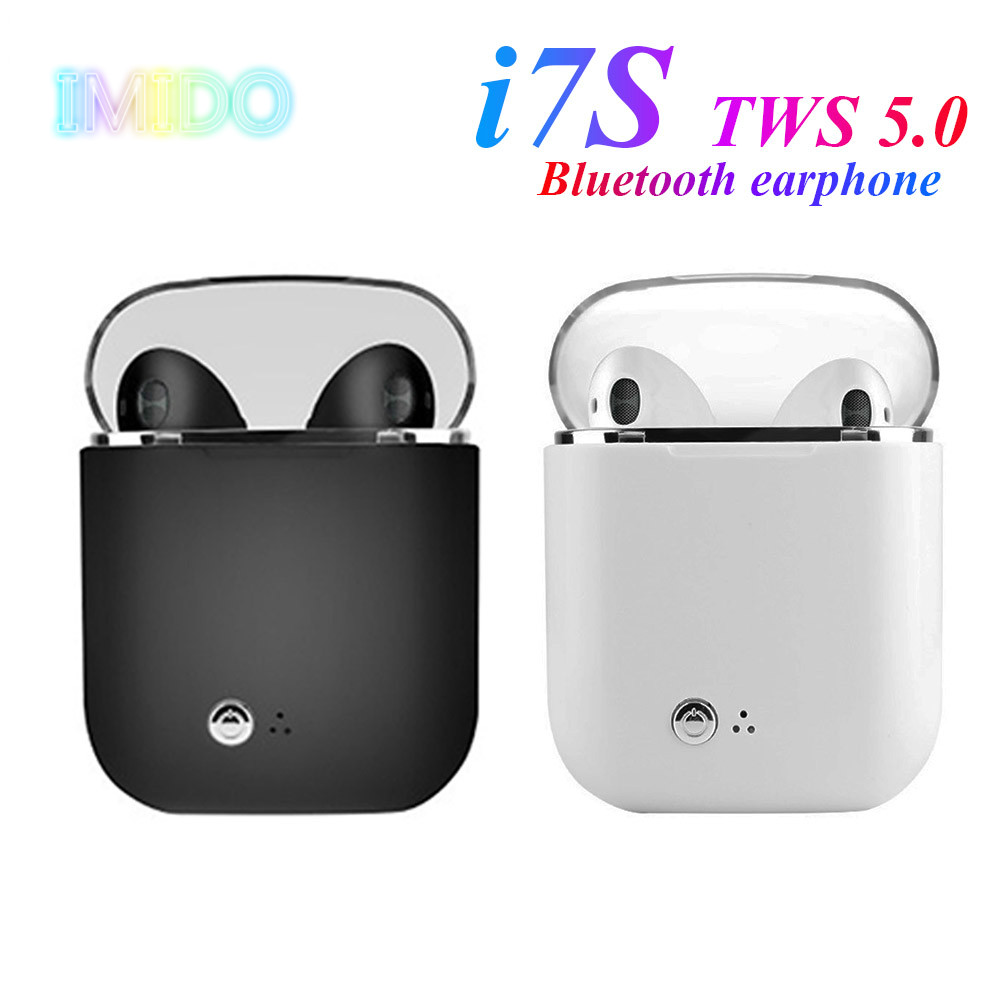i7s TWS 5.0 Bluetooth earphone HIFI sound Wireless Headphones Stereo sports headphones Handfree gaming headset for smart phone image