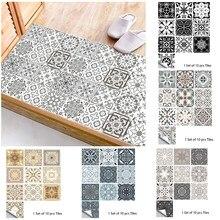 10 sztuk szary wzór Retro matowa powierzchnia płytki naklejki transfery okładki do kuchni łazienka stoły podłogowe wytrzymałe naklejki ścienne