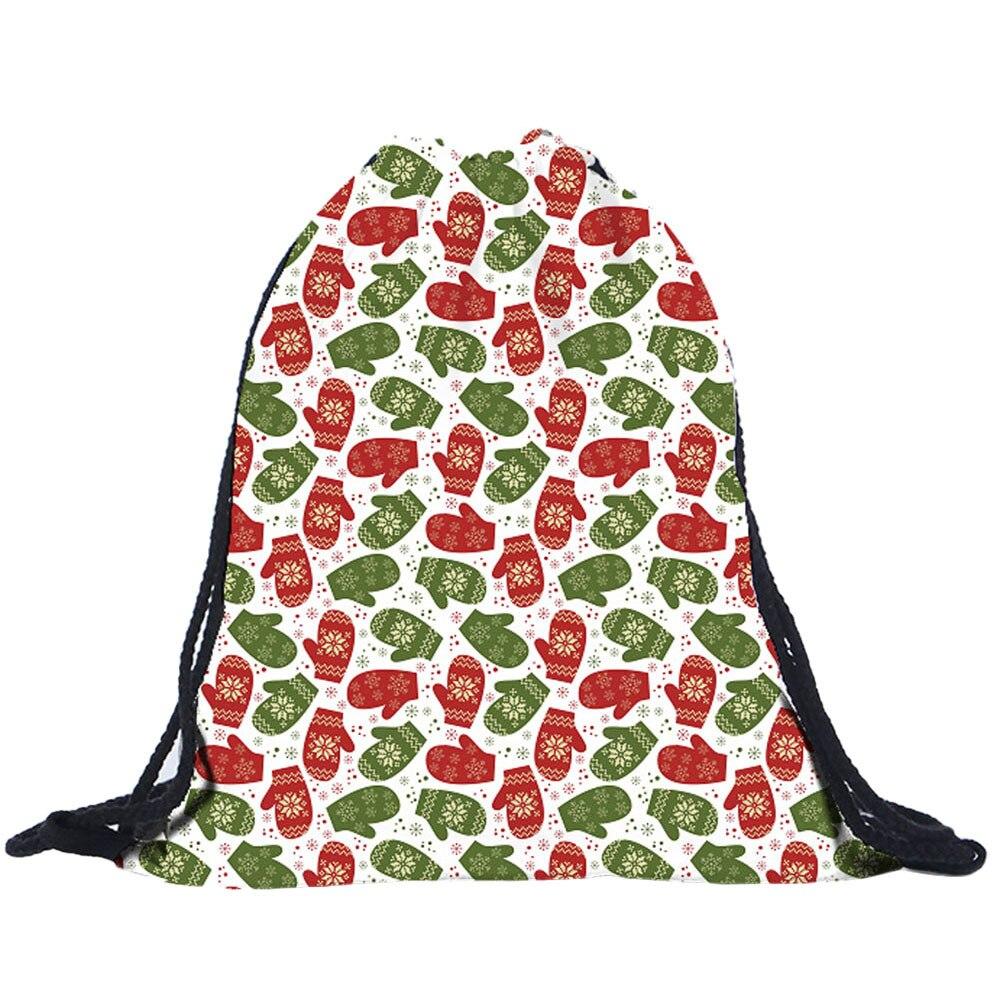 Sleeper #P501 2019 NEW FASHION Christmas Candy Bag Gift Bag Bundle Pocket 3D Printing Bags Drawstring Unique Gift Free Shipping