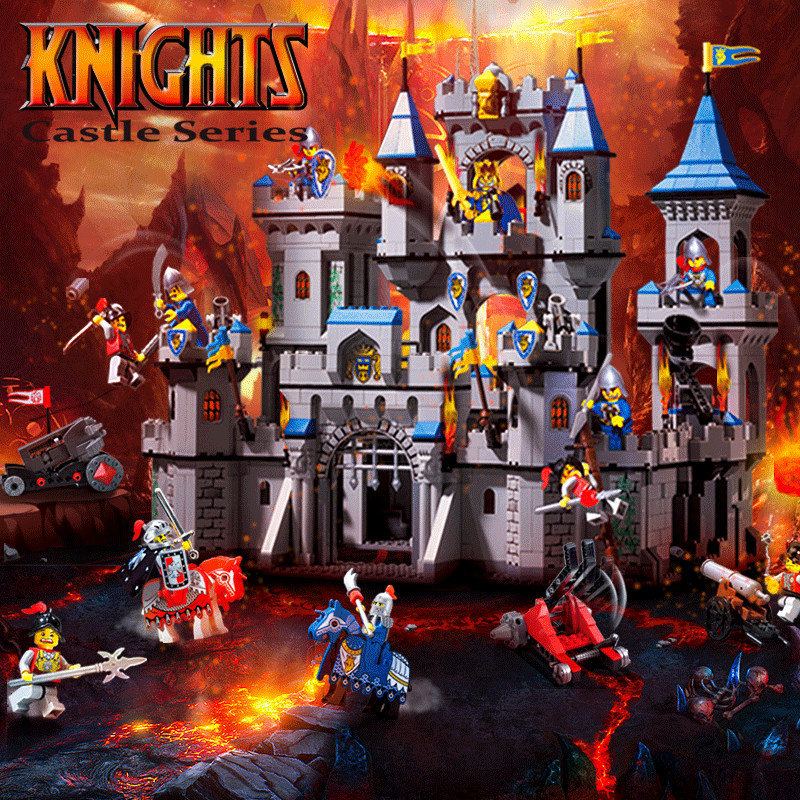 Enlighten 1023 Lion King Castle Military Bricks Model Battle Fortress Building Blocks Toys For Children Friends Christmas Gifts