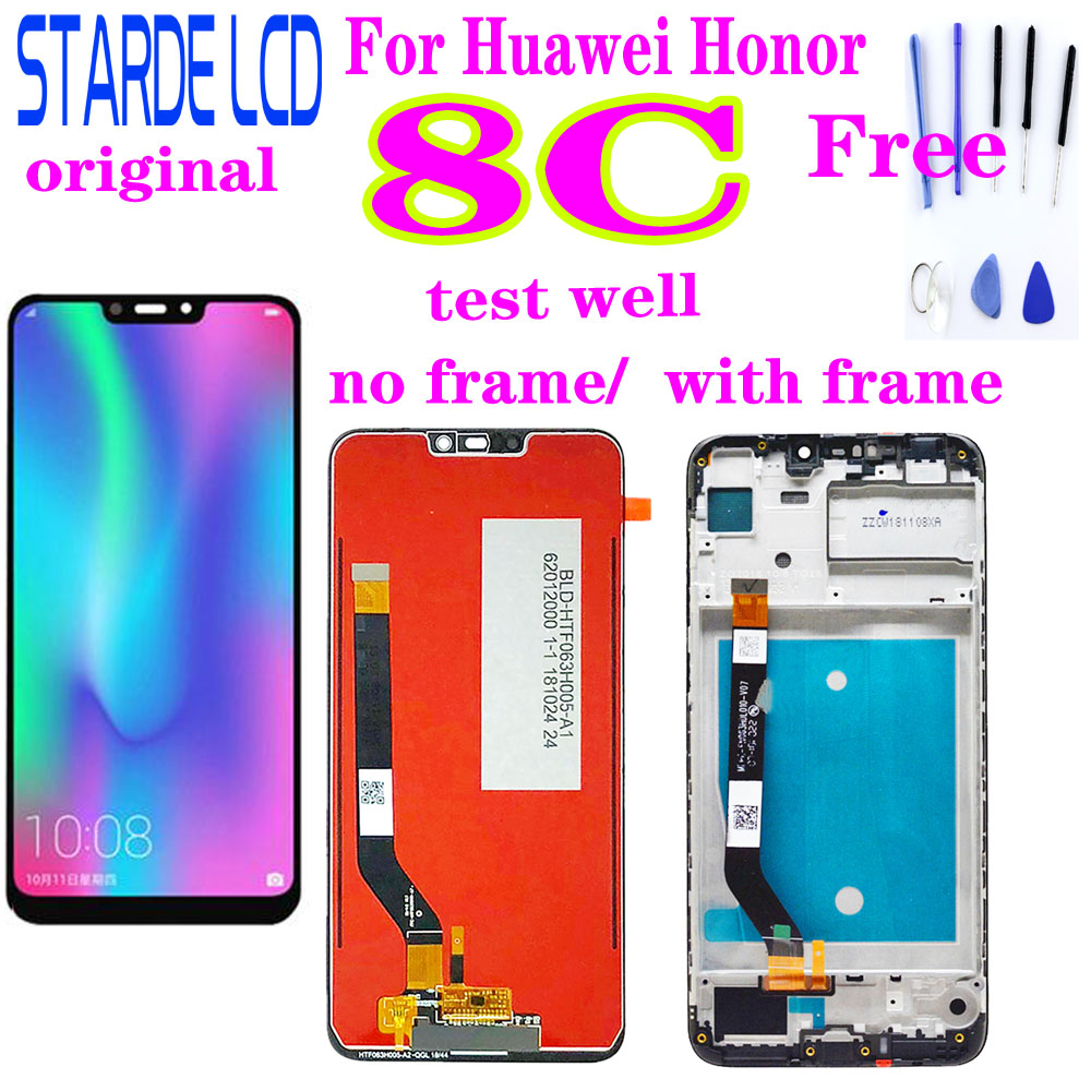 Original for Huawei <font><b>Honor</b></font> <font><b>8C</b></font> LCD <font><b>Display</b></font> <font><b>Screen</b></font> <font><b>Touch</b></font> Digitizer Assembly <font><b>with</b></font> Frame for <font><b>Honor</b></font> <font><b>8C</b></font> BKK-AL10 BKK-L21 LCD <font><b>Display</b></font> image
